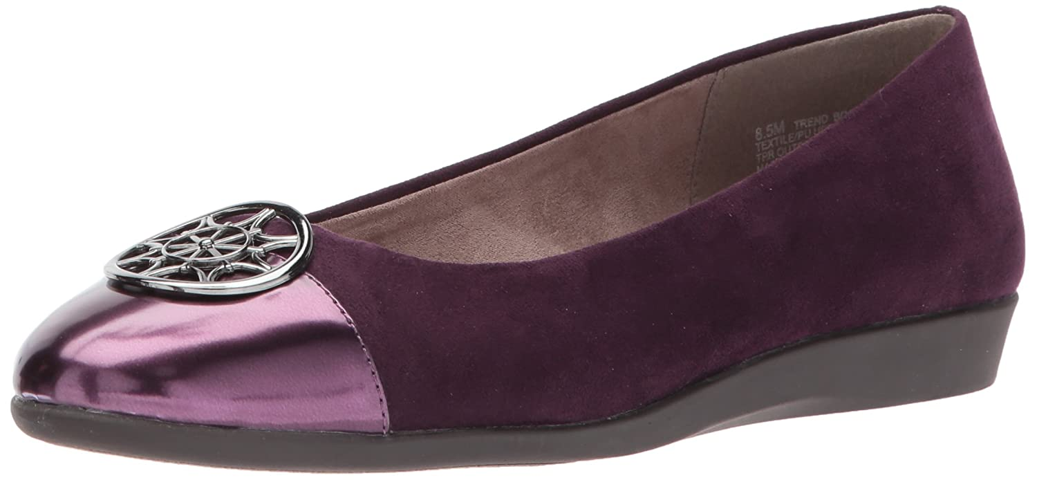 Aerosoles A2 by Women's Trend Book Ballet Flat B071L3THYJ 10.5 W US|Purple Combo