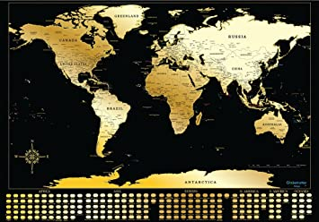 Scratch off world map by treepeasy amazon office products scratch off world map by treepeasy gumiabroncs Images