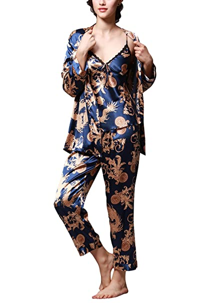 Dolamen Pijamas para mujer, Pijamas Mujer invierno, 3-in-1 Mujer camisones