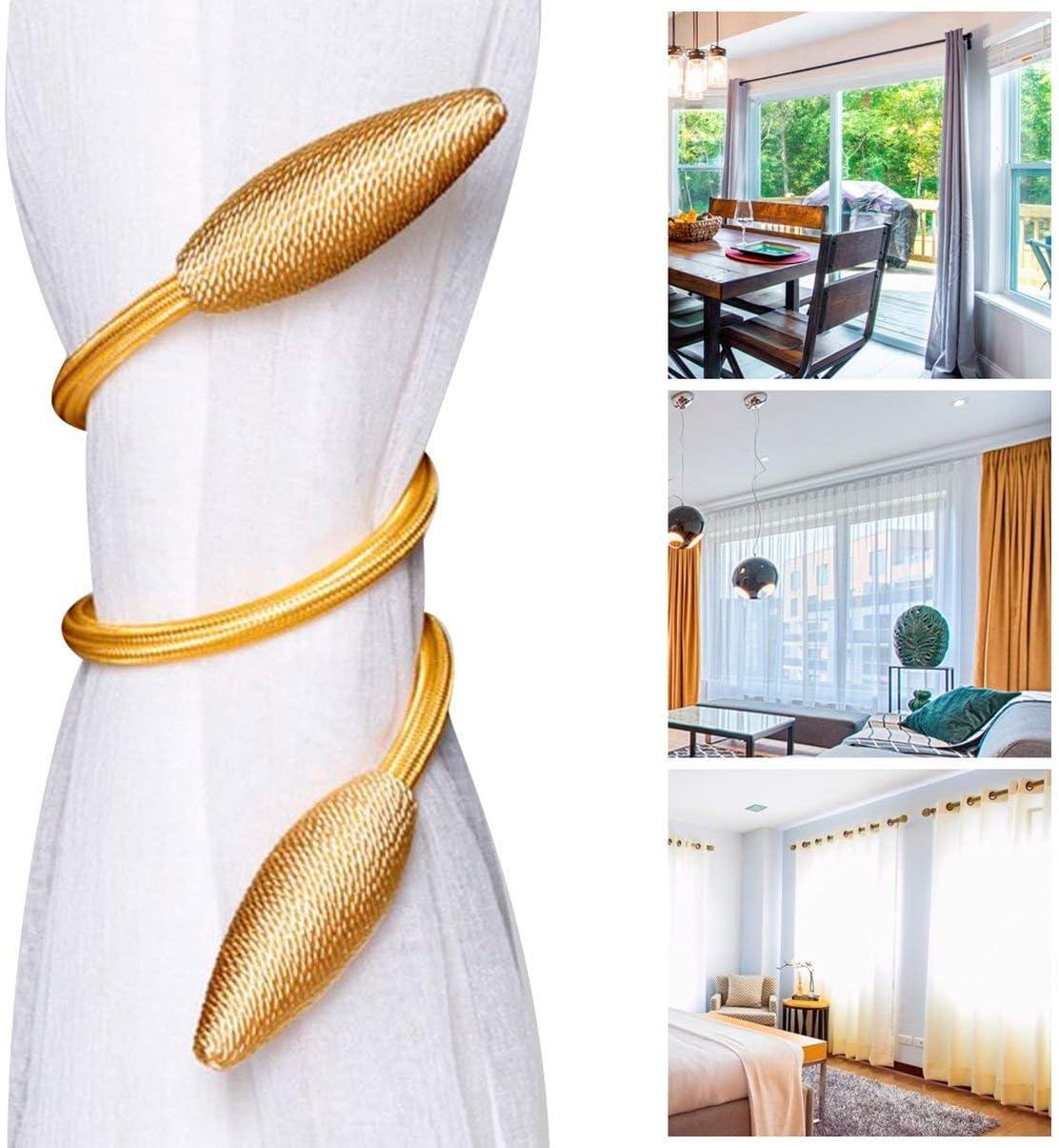 FHJZXDGHNXFGH Portable Curtain Tiebacks Universal Curtain Tie Rings Modern Curtain Rope Living Room Curtain Buckle