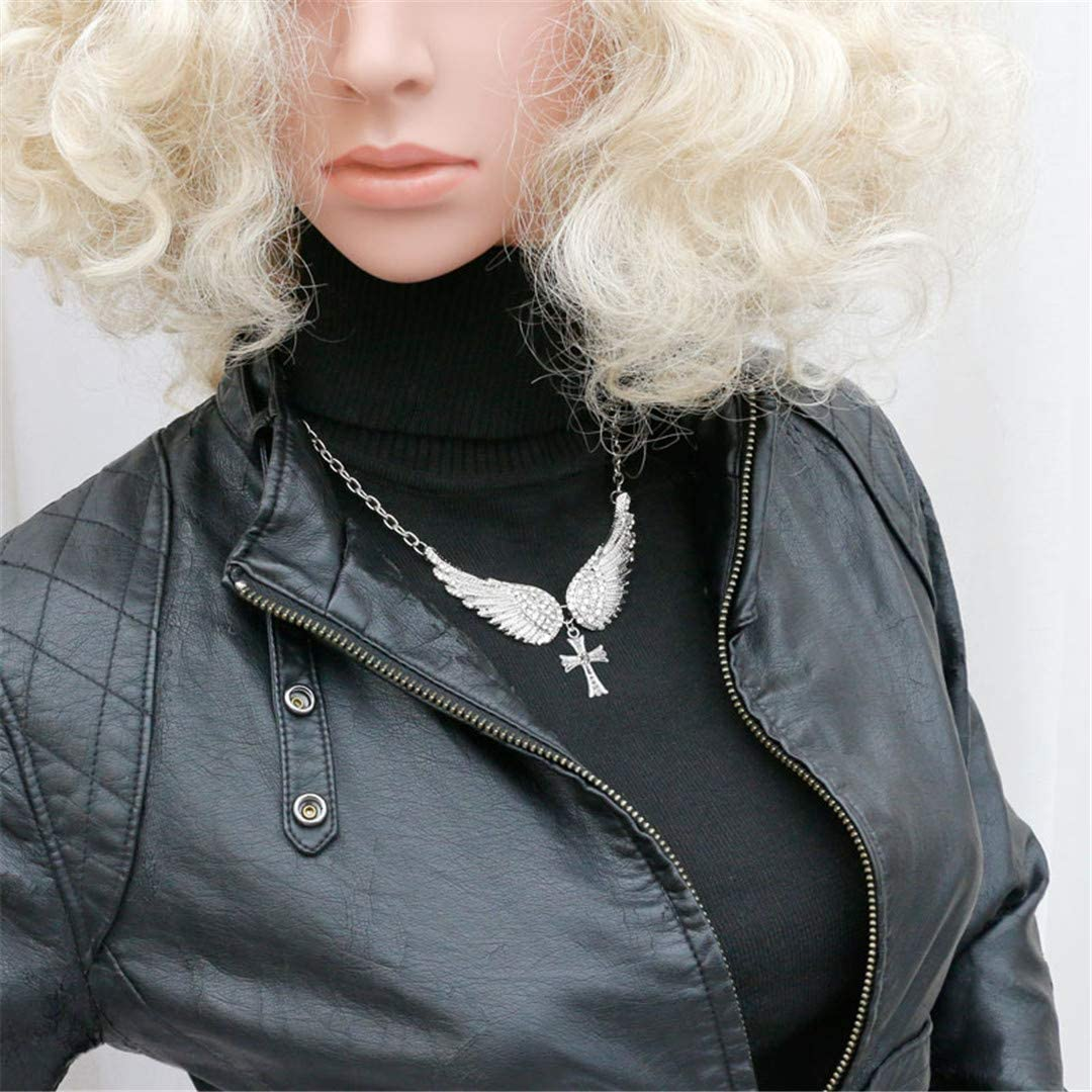 LIVEGNS Statement Choker Necklace Cross Pendants Necklaces for Women Gifts Jewelry