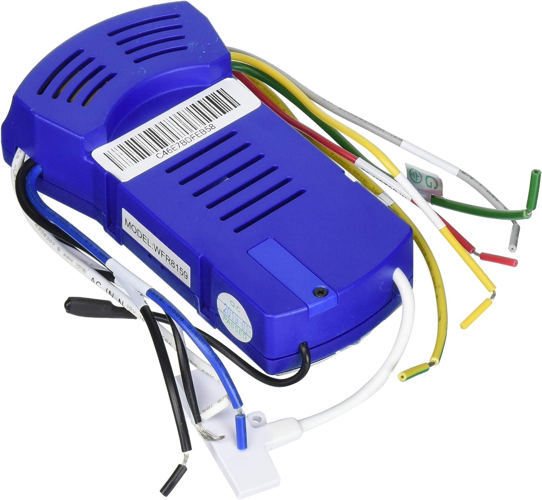 "Fanimation WFR8159 fanSync Smart WiFi Receiver for Odyn 84"" Ceiling Fan, Blue"
