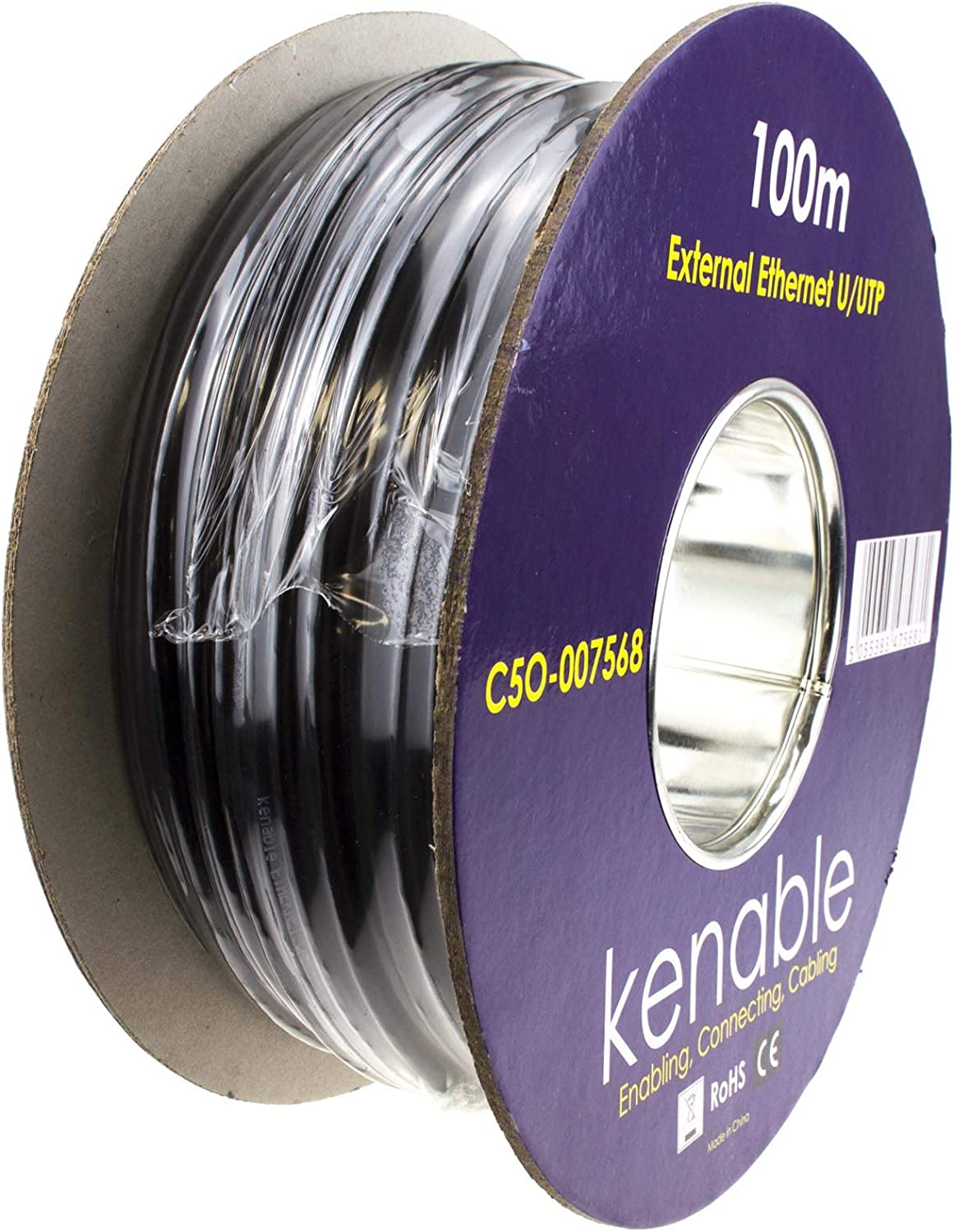 kenable External CAT5e-CCA Outdoor Use Ethernet Network Cable Reel UTP 100m ~330 feet