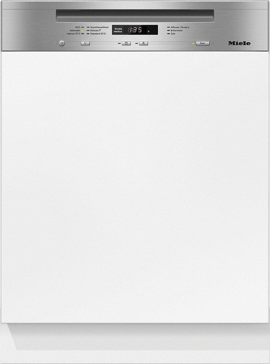 Miele Lavastoviglie da incasso con frontalino a vista G 6620 SCi CLST finitura acciaio inox cleansteel da 60cm