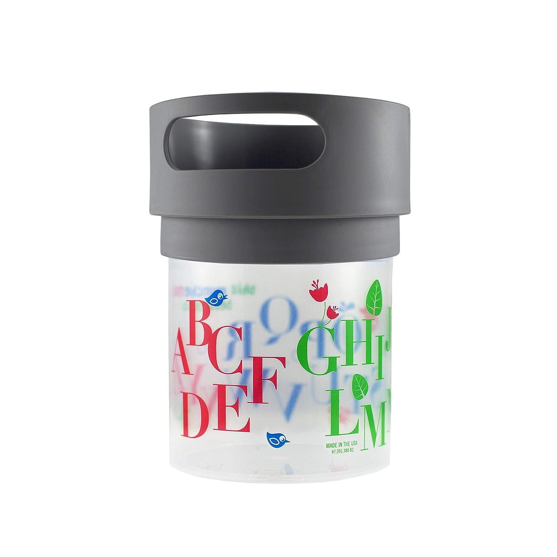 small, 12 oz, Grey Munchie Mug Snack Cup