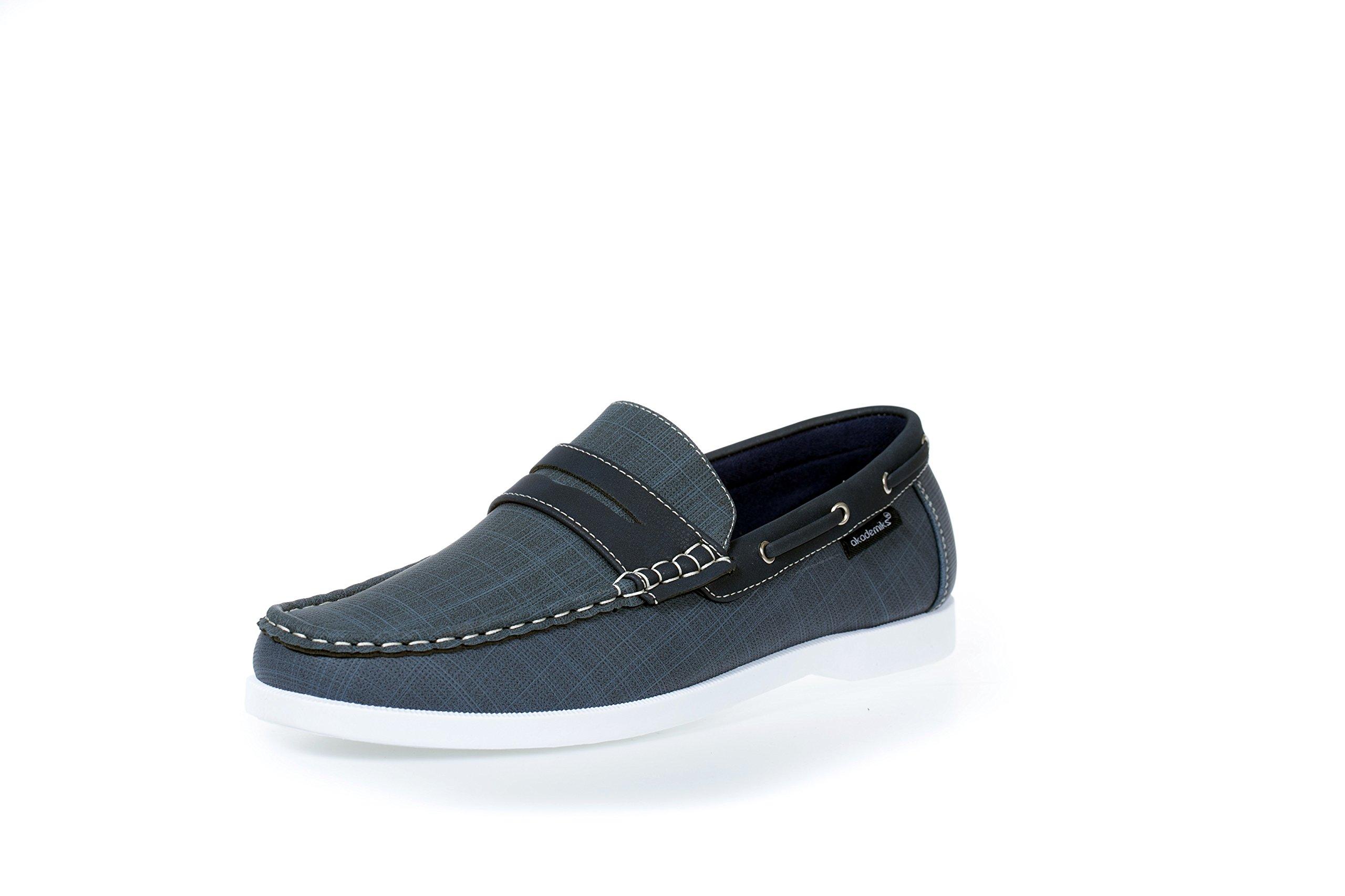 Akademiks Mens Comfort Penny Slip-On Boat Shoe