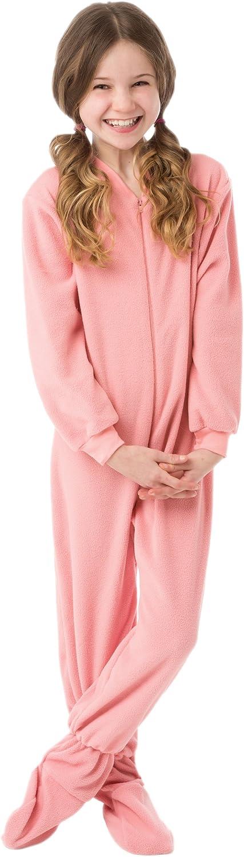 Toddler Pink Fleece Footed Pajamas 3T Big Feet Pjs Little Girls Infant