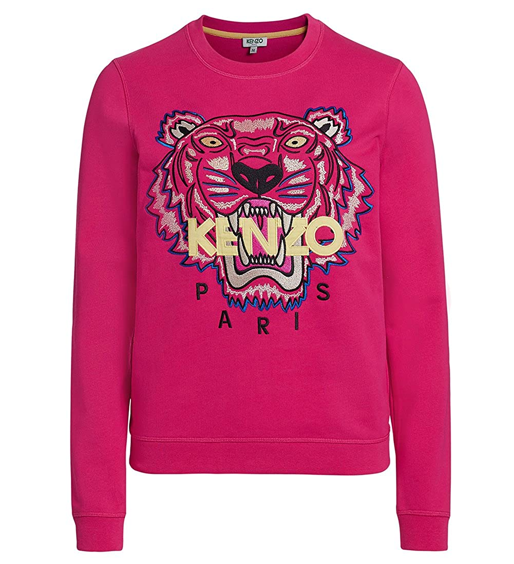 f60ff008 Online Cheap wholesale Kenzo Womens Pink Embroidered Icon Tiger Sweatshirt  Jumper Top Signature Fashion Hoodies & Sweatshirts Suppliers