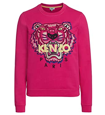 White Icon Sweatshirt Tiger Kenzo Embroidered Jumper Women's 1KF5TcuJl3