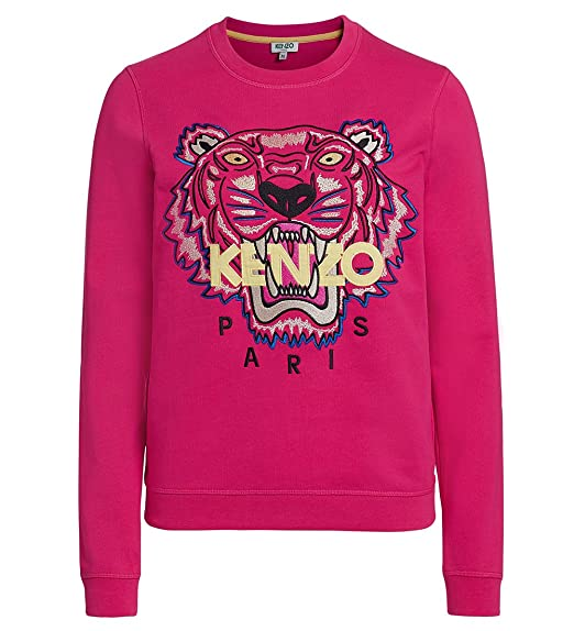 41e907e855f Kenzo Women's White Embroidered Icon Tiger Sweatshirt Jumper Signature ...
