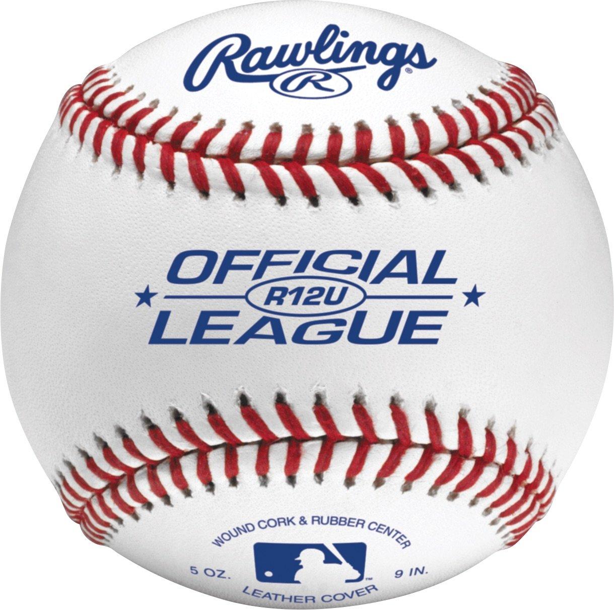 Rawlings Youth 12U Game Play Baseballs, (Box of 24), R12USW2-24