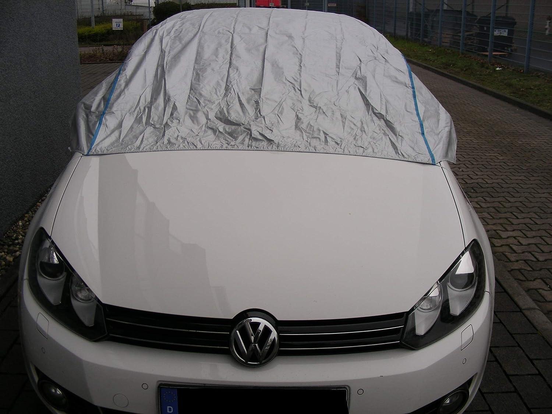 Kley /& Partner Halbgarage Autoabdeckung UV-best/ändig atmungsaktiv wasserfest f/ür VW Passat Kombi ab 2014 in Silber