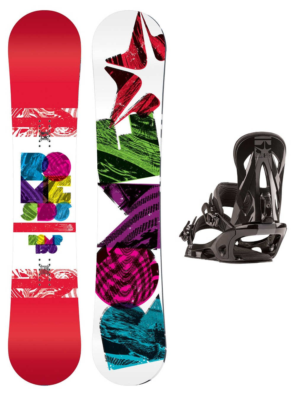 69bebe6b5 Rome Freestyle Snowboard Set Women Romp 150 + Shift M black Women:  Amazon.co.uk: Sports & Outdoors
