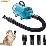 Display4top Professionele hondendroger, 2800W, lage ruis, hondenverzorging, haardroger, instelbare warmte en toerental, Europese standaardstekker, blauw