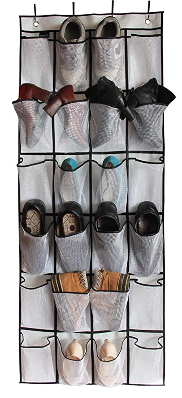 lzndeal Scaffale per pantaloni portaoggetti per sciarpa gancio multifunzionale per cinque in uno,2 Pcs Pants Rack Shelves 5 in 1 Multifunctional Storage Trousers Hangers Space Saving,Ripiani pensili