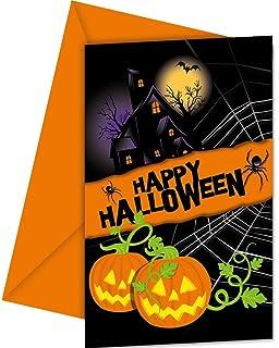 Happy Halloween Einladungskarten Mit Umschlag