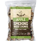 Mr. Bar-B-Q Apple Smoking Wood Chunks   All-Natural BBQ Wood Chunks   Delicious Smokey Fruity Flavor   3.5 Pound Bag of Wood