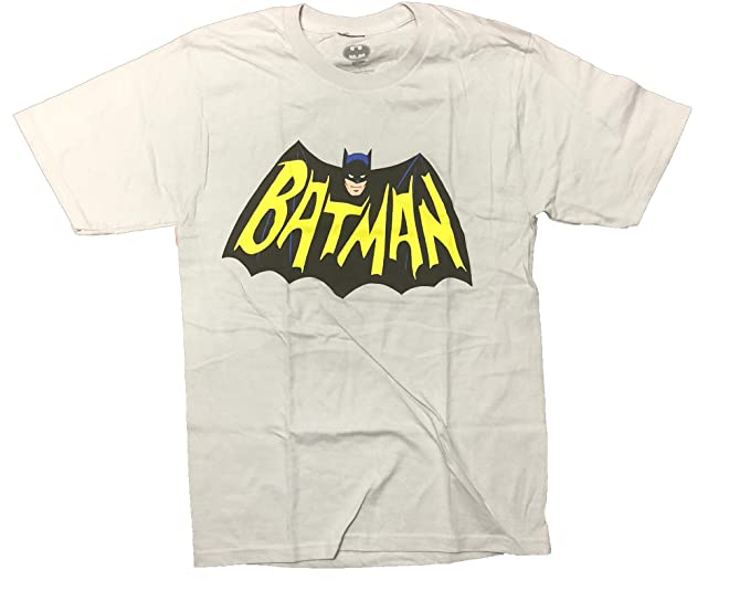 Amazon com: Bioworld Batman 1966 Classic Vintage Logo Men's T-Shirt