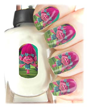 Trolls Nail Art Wraps Childrens Nail Art Stickers - Fun and easy to ...