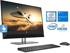 "HP Pavilion 24 All-in-One, 23.8"" FHD Touch Display, Intel Core i5-8400T Upto 3.3GHz, 32GB RAM, 1TB SSD, HDMI, Card Reader, Wi-Fi, Bluetooth, Windows 10 Pro"