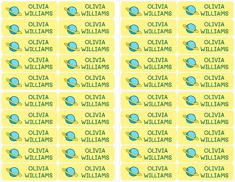 50 Etiquetas Adhesivas Personalizadas, de 6 x 2 cms, para marcar ...