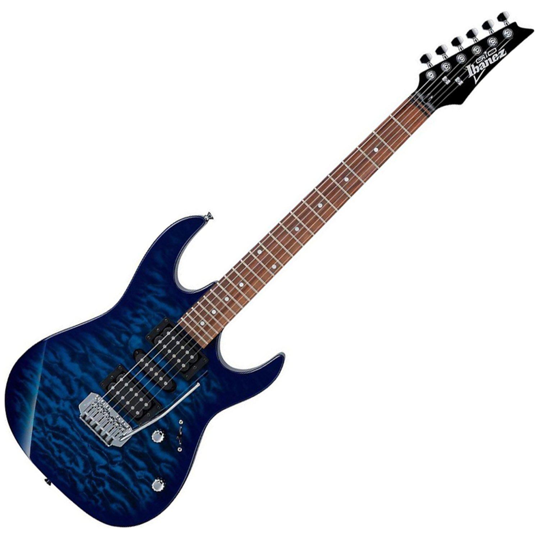 ibanez grx70qa tbb trans blue solid body electric