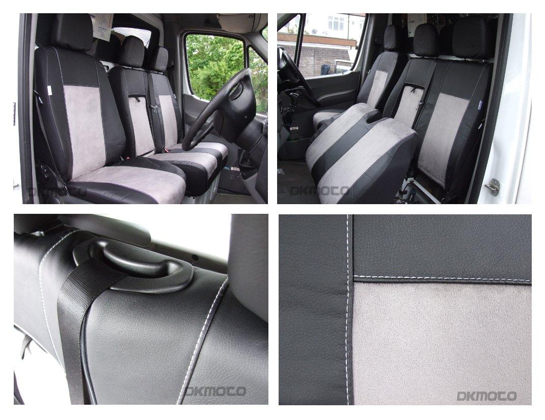 DKMOTO DK706B/G Premium Tailored Van Seat Covers for