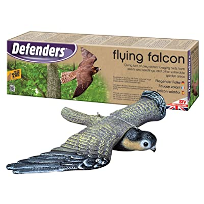STV International Defenders Flying Falcon Decoy (Lifelike Bird Deterrent, Scares Birds from Gardens and Outdoor Areas) : Home Pest Repellents : Garden & Outdoor