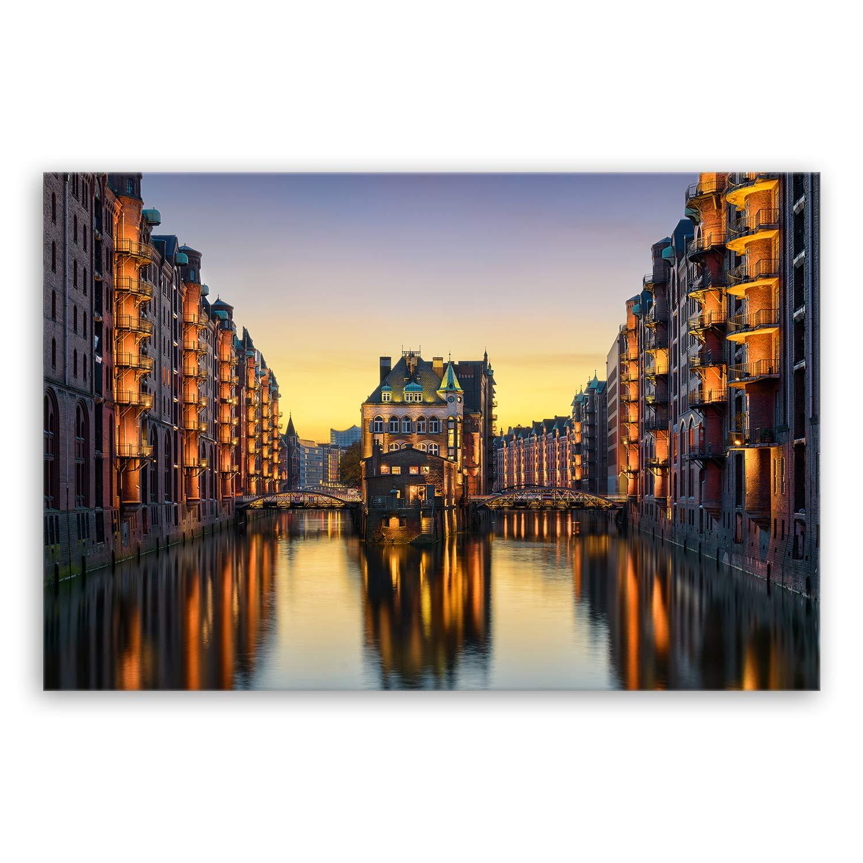 Bilder auf Leinwand Hamburg 120x80cm XXL 5051 neu Alle Wandbilder fertig gerahmt