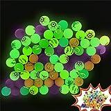Zcaukya Halloween Party Favors Kids, 72 PCS Halloween Glow Dark Bouncy Balls, Non Candy Halloween Treat, Halloween Trick…