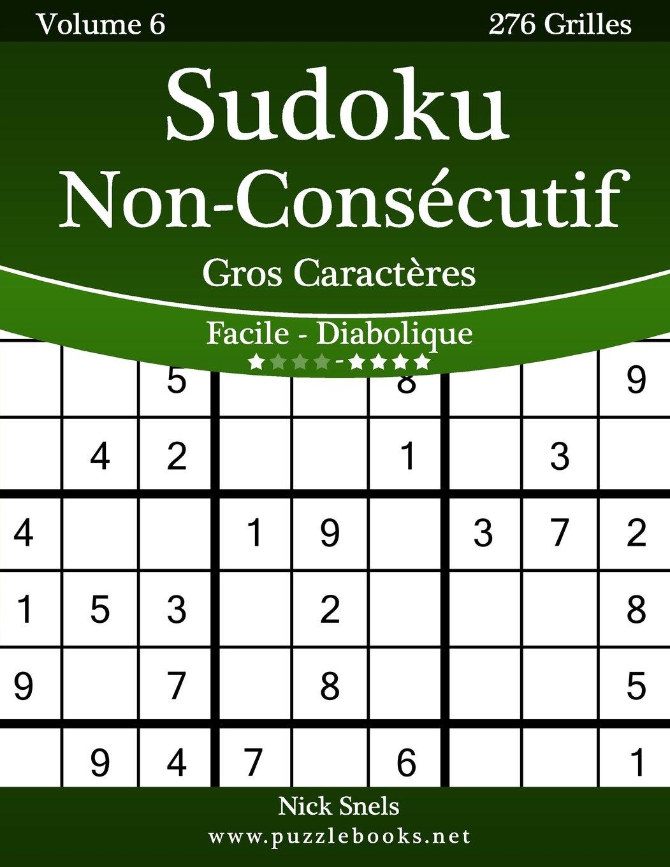 Sudoku Non Consecutif Gros Caracteres Facile A Diabolique