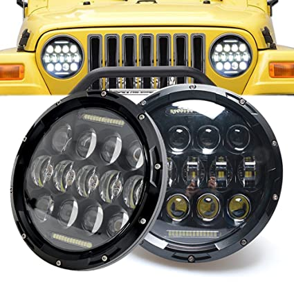 Jeep Jk Headlights >> Sup Light 2pcs 75w Headlamp 7 Inch Jeep Wrangler Led Headlight With Drl For Wrangler Jk Tj Cruiser Hummer H1 H2 Trucks Off Road Lights