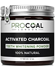 Charcoal Teeth Whitening Powder, Charcoal Toothpaste by Procoal - 100% Money Back, Superior Than Crest Teeth Whitening Kits - Made in UK