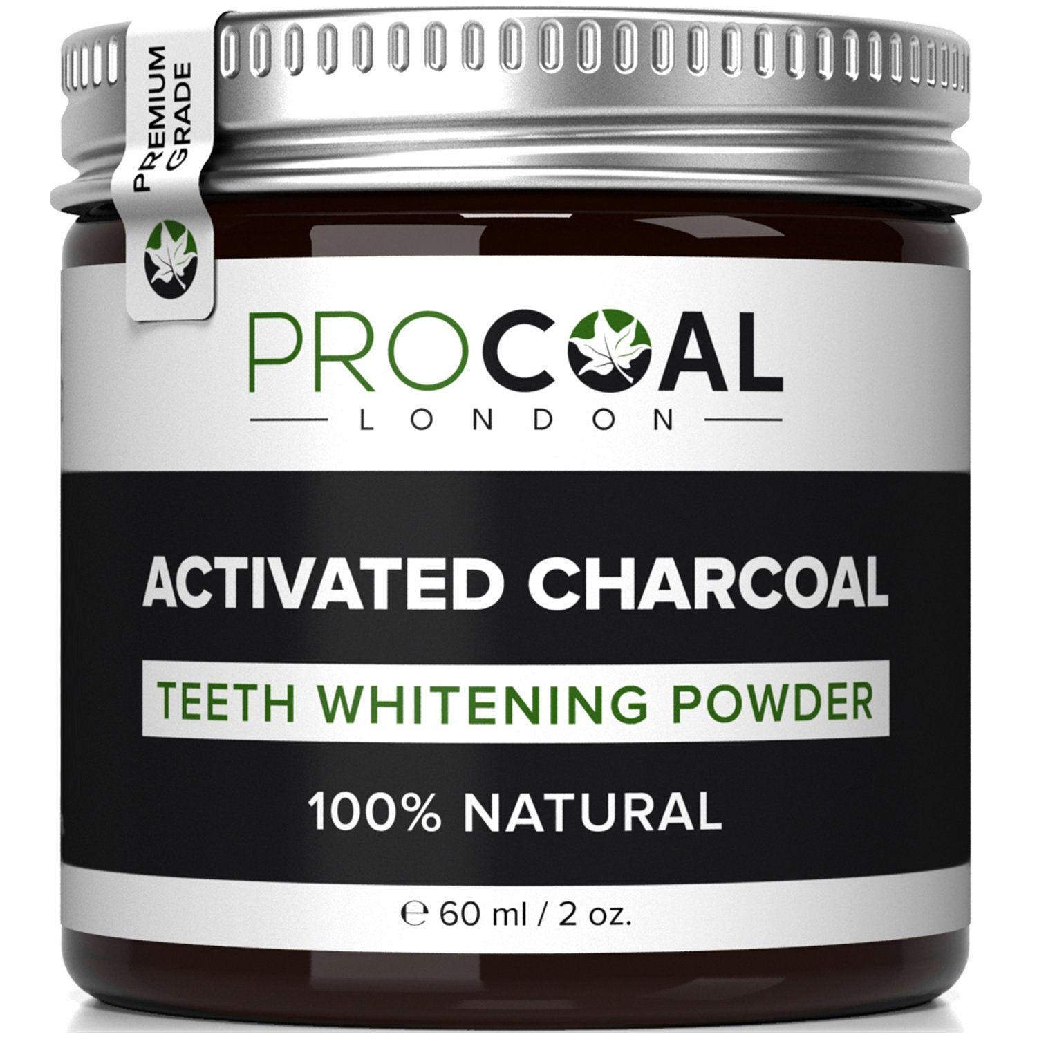 Charcoal Teeth Whitening Powder, Charcoal Toothpaste by Procoal - 100% Money Back, Superior Than Crest Teeth Whitening Kits - Made in UK product image