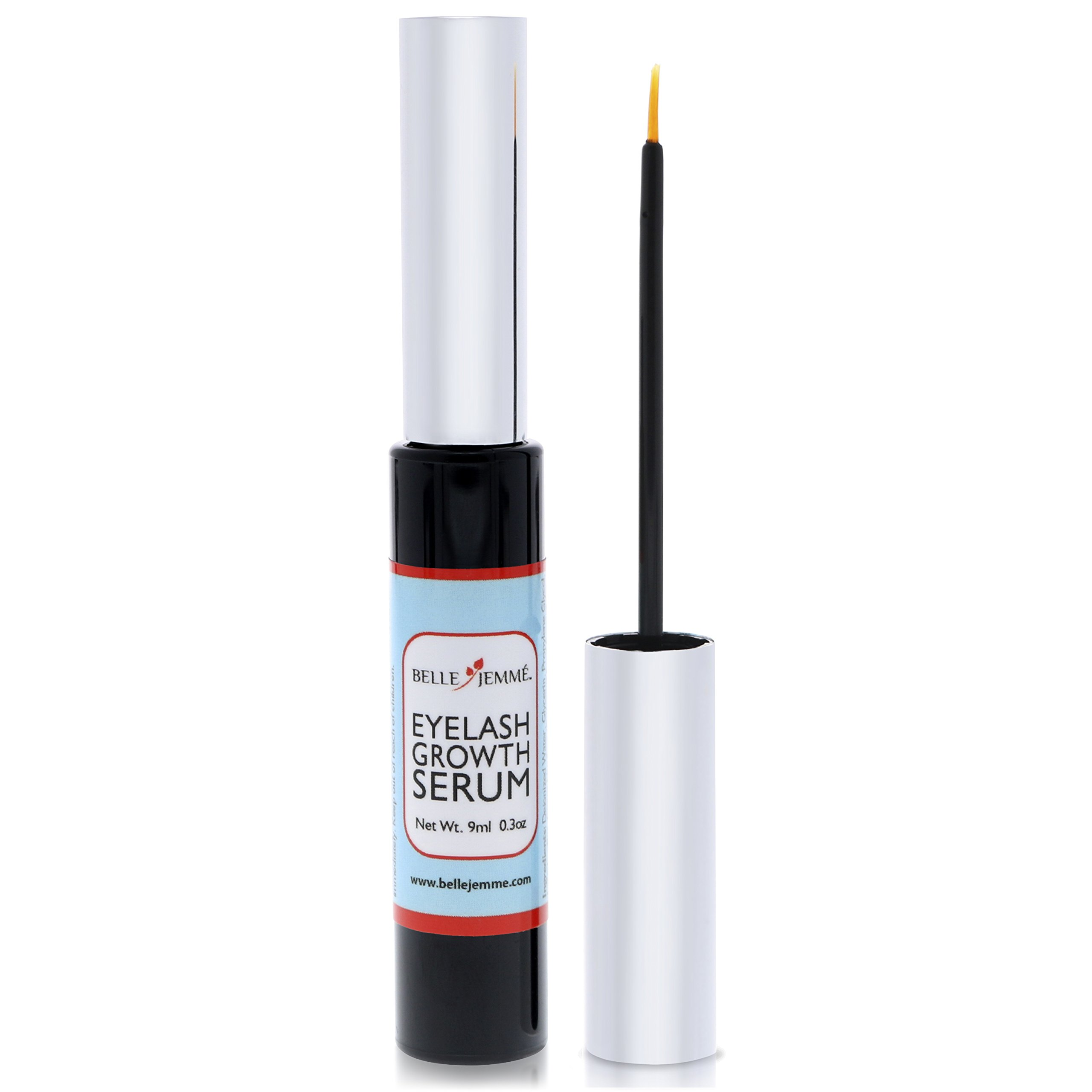 Belle Jemme Eyelash Growth Serum- Grow longer fuller eyelashes & eyebrows. New non irritating serum for safe & fast results. Easy to apply lash growth serum. Lashes and brows that are naturally yours!