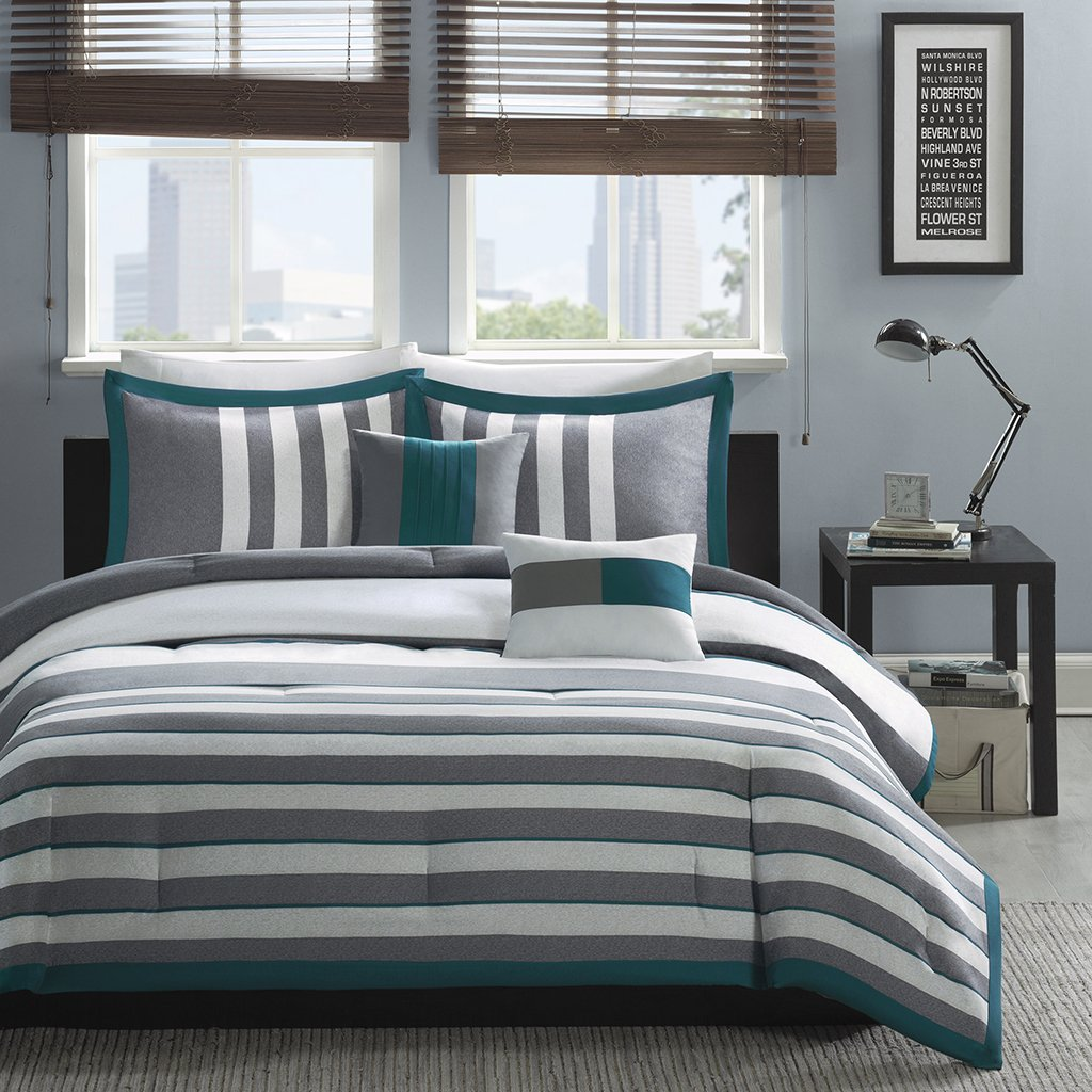 grey of horizontal gray white striped navy set sets bedding fun ideas size medium and comforter