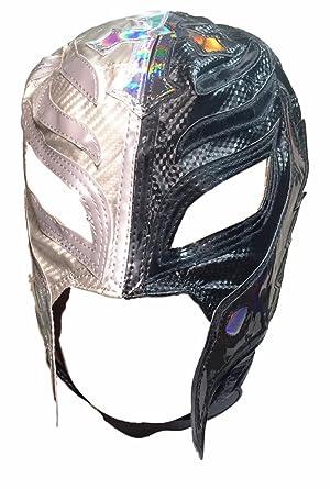 WWE Rey Mysterio Kid Size Half Black/Half Silver Replica MASK