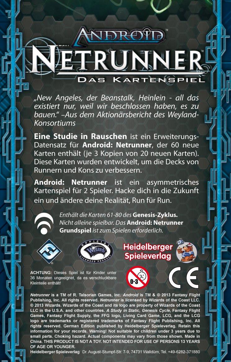 Android Netrunner Genesis-Zyklus 4 Asmodee HE467 Eine Studie in Rauschen