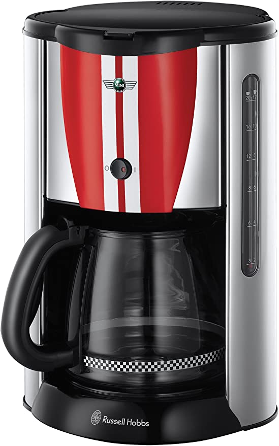 Russell Hobbs Mini 18517-56 - Cafetera de goteo, 1000 W, color rojo: Amazon.es: Hogar