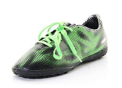 7981cfece6c Boys Adidas F10 Black Green Astro Turf Soccer Football Boots Trainers (UK  3.5