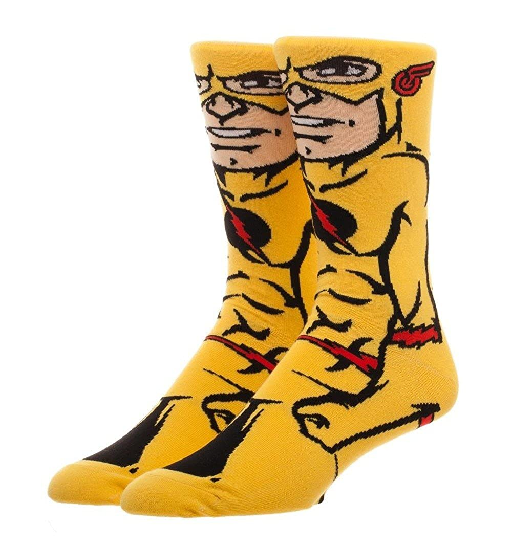 DC Comics The Flash 360 Crew Socks Character Collection Package Adult Mens OS BioWorld