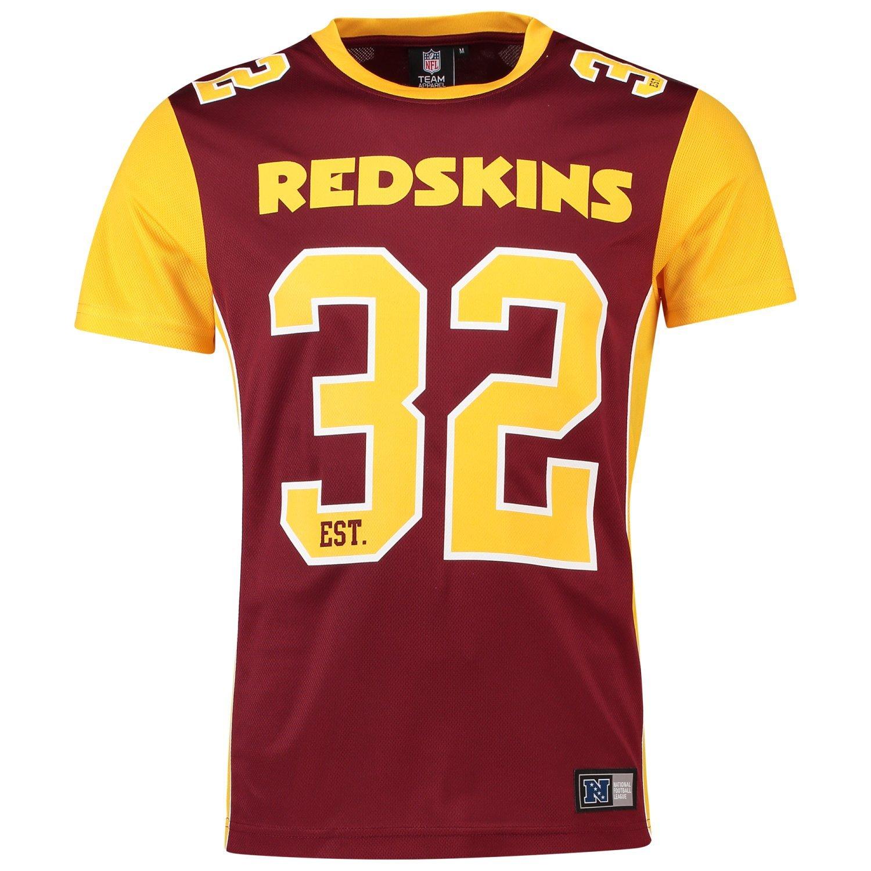 Majestic T-Shirt – NFL Washington Redskins Dene Poly Mesh Granat/Gelb MWR4655WE
