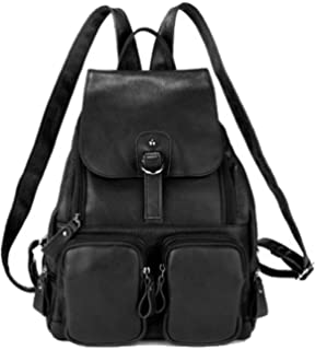 56de5efa320b Coolcy Casual Women Real Genuine Leather Backpack New Vintage Style Travel  Bag