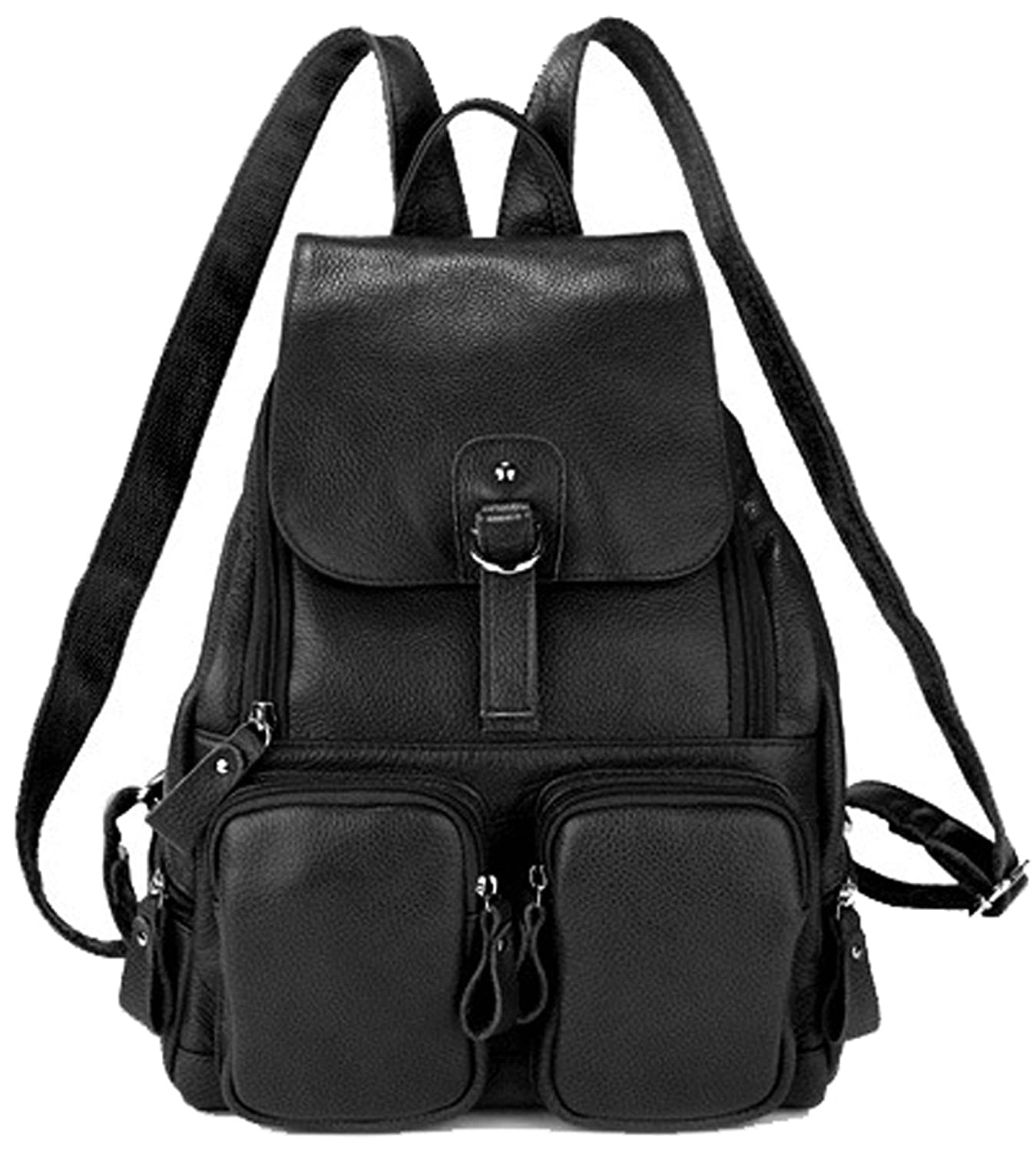 Amazon.com: Coolcy Casual Women Real Genuine Leather Backpack New ...
