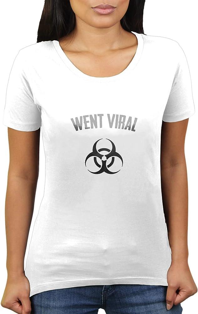 KaterLikoli Went Viral Coronavirus CoVid-19 SARS-CoV-2 Corona Virus - Camiseta para mujer Blanco L: Amazon.es: Ropa y accesorios