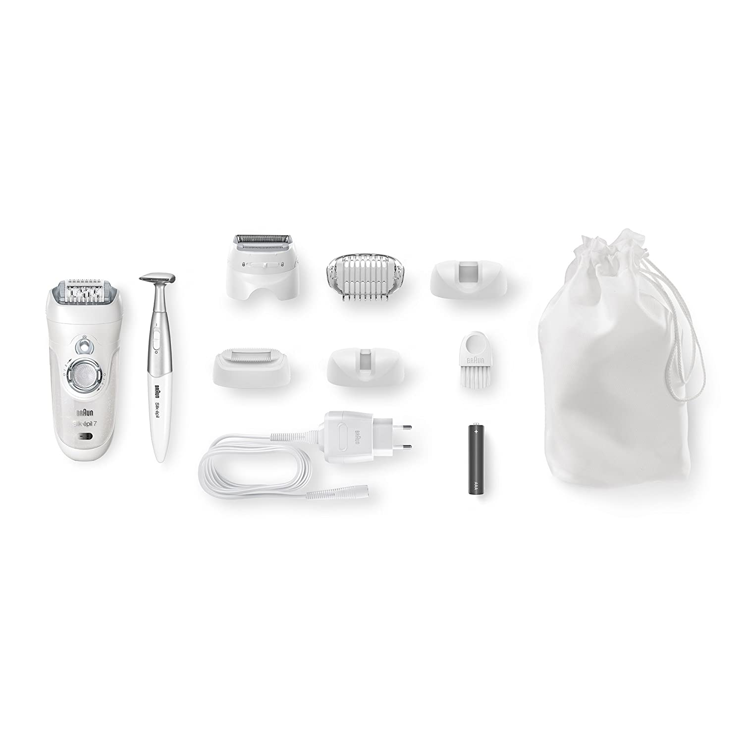 Braun Women s Epilator, Silk- pil 7 7-561 Electric Hair Removal, Wet Dry, Shaver with Bikini Trimmer Packaging May Vary