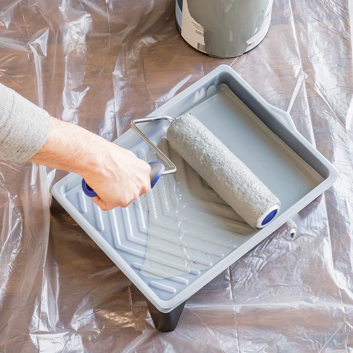 6 Pi/èces de Remplacement pour Manche /à Rouleau de Peinture Patte de Lapin Precision Defined Recharge de 6 Rouleaux de Peinture de 23 cm