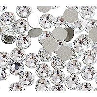 Jollin Crystal Flatback Rhinestones for Nail Art Glue Fix 1.4mm SS3(2880pcs)
