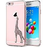 Yokata iPhone 6 / iPhone 6s Hülle Durchsichtig Silikon mit Weich Bumper Klar Schutz Handyhülle Case Tasche - Amüsant Wunderlich Design Giraffe Motiv