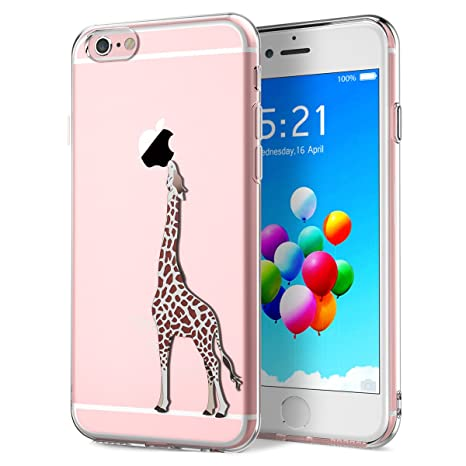 Yokata Funda para iPhone 6 Plus Funda iPhone 6S Plus Carcasa Transparente Ultra Suave Silicona TPU Case con Dibujo Anti-Arañazos Caso Cover - Elegante ...